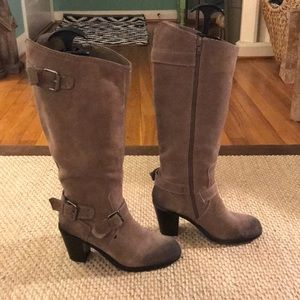 Suede Dolce Vita Heel Boots - Size 7.5